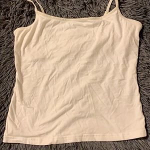 American Eagle Outfitters Tops - white tank top w/ built in bra